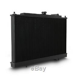JAPSPEED BLACK 40mm ALLOY RADIATOR RAD FOR MITSUBISHI LANCER EVO 4 5 6 IV V VI