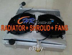 Jaguar S2 E-type 50mm Aluminum Alloy Radiator Manual + Shroud + 2 X Fan
