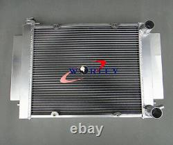 NEW FOR Mazda RX2 RX3 RX4 RX5 RX7 Aluminum Alloy Radiator&shroud with pipe