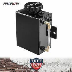Proflow Black Alloy Coolant Tank + Level Indicator Radiator Recovery Overflow
