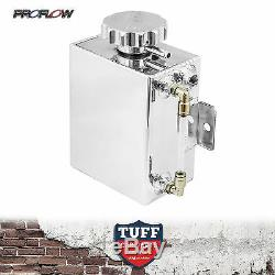 Proflow Polished Alloy Coolant Tank + Level Indicator Radiator Recovery Overflow