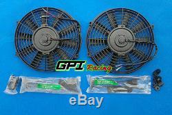 2 Core Radiateur En Aluminium Et 2 Ventilateurs Pour Peugeot 205 Gti 1.6l Et 1.9l 1984-1994 Mt