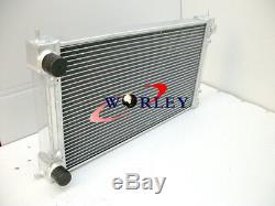 2 Rangées Pour Radiateur En Alliage Aluminium 1.6 1.8 1.8 Mt Pour Vw Golf Mk1 Mk2 Gti / Scirocco