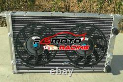 2 Row Radiateur En Aluminium Et Ventilateurs Pour Vw Golf / Jetta Vr6 Mk III Mk3 2.8l Manuel 2.0l