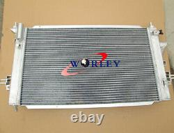 2rows Opel Vauxhall Astra Vxr Z20leh Turbo Engine Alloy Aluminium Radiator + Fans