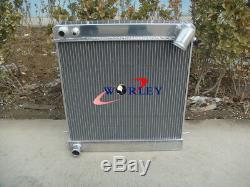 3 Ligne Pour Jaguar Xke Série 1 S1 4.2l 1965 1966 1967 Mt Aluminium Radiateur + Ventilateur