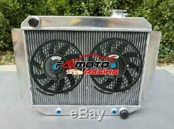 3 Rangée En Alliage Radiateur + Ventilateur Pour Holden Kingswood Hd Hr Hk Ht Hg 6cyl 1966-1970 At
