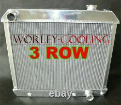 3 Rangs Radiateur En Alliage Pour 1963-1966 Panel Chevy Truck C10 / C20 / C30 Pontiac Cars Olds