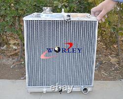 3 Row 52mm Radiateur En Aluminium Pour 1992-2000 Honda CIVIC Eg Ek B16 B18 32mm Pipe