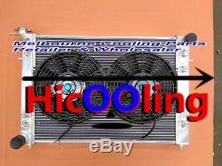 3 Row Alliage 52 MM Radiateur + Deux Ventilateurs Pour Holden Vn Vg Vp Vr Vs V6 3.8l