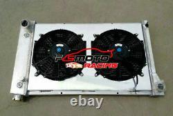 3 Row Radiateur En Aluminium + Enveloppe + Fans Pour 67-72 Chevy C10 C20 K10 K20 K30 Truck At