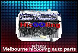 3row Alloy Radiator&fan Holden Kingswood Hq Hj Hx Hz V8 308 253 350 Chev Eng Mt