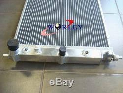 3row En Alliage D'aluminium De Radiateur Pour Ford Falcon Ba Bf V8 Turbo Xr6 Xr8 At / Mt + Ventilateurs