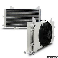40mm Alliage Radiateur Rad & Fan Shroud Kit Pour Ford Escort Mk3 S1 1.6 Rs Turbo