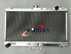 52mm Pour 1998-2005 Mazda Mx5 Nb Roadster Mx5 Miata Mt Radiateur En Aluminium + Ventilateurs