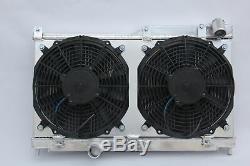 52mm Radiateur En Aluminium Et Ventilateur Suaire S'intègre Mazda Rx7 Mk2 Fd3s Manuel 1992-1995