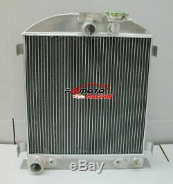 64mm 3 Base Pour New 1932 Ford Moteur 32 Chopped At / Mt En Alliage D'aluminium De Radiateur