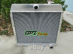 64mm 3 Row Pour Chevy Bel Air V8 1955-1957 55 56 57 En Alliage D'aluminium De Radiateur