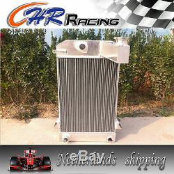 64mm 3 Row + Radiateur Alliage Aluminium Fan Triumph Tr2 / Tr3 / Tr3a / Tr3b Mt