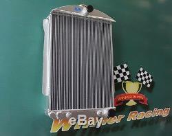 70mm De Base En Alliage D'aluminium Radiateur Chevy Street Car Rod Auto 1940 1941
