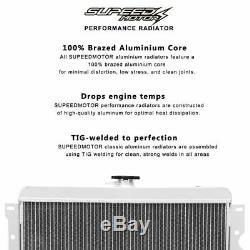 83-87 Toyota Corolla Ae86 4age Gts Radiateur De Course En Aluminium Entièrement Allié
