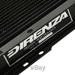 Black Direnza De Alliage Sport Radiateur Rad Pour Fiat Coupe 2.0 20v Turbo 96-00