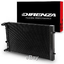Direnza 42mm Noir Alliage Race Radiateur Rad Pour Audi S3 Tt 1.8t Quattro 01-06