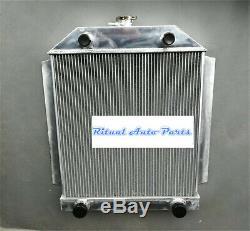 En Alliage D'aluminium Radiateur Ford V8 Flathead Voiture Moteur Mt 1949-1953 1950 1951 1952