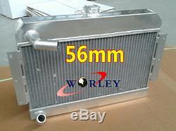 En Alliage D'aluminium Radiateur + Ventilateur Pour Mgb Gt / Roadster Top-fill 1968-1975 1969 1970