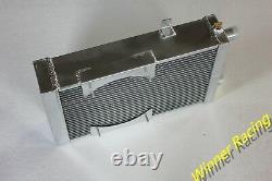 Fit Lotus Europa 1.5l/1.6l 1966-1976 M/t Aluminium Alliage Radiateur+fan 86mm 3 Rangs