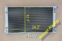 Fit Vw Golf Mk1 / 2 Gti / Scirocco 1,6 1,8 8v Mt 50mm Radiateur En Alliage D'aluminium