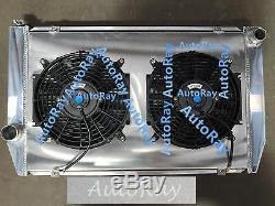 Ford Falcon V8 6cyl XC XD Xe Xf En Alliage D'aluminium Radiateur + Suaire + Fans