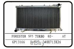 Golpher Subaru Forester Gt Turbo Sf5 97-02 A / Mt Plein Alliage De Radiateur 26mm De Base