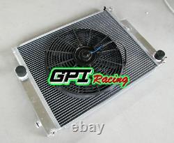 Gpi High-perf. Radiateur D'allocution De Core Dual Pour Bmw E36 M3/z3/325i+fan, Nouveau