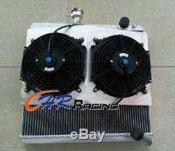 Jaguar S2 Type E 50 MM En Alliage D'aluminium De Radiateur Suaire Manuel + 2 + X Ventilateur