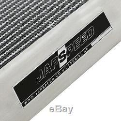 Japspeed 42mm Alliage D'aluminium Radiateur Rad Pour Refroidissement Nissan Skyline R33 Gtst