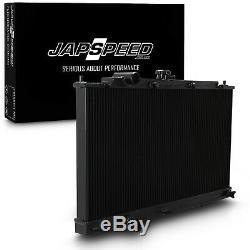 Japspeed Black 40mm Alliage De Radiateur Rad Pour Mitsubishi Lancer Evo 4 5 6 IV V VI