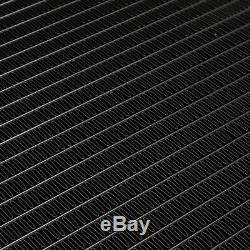Japspeed Black Edition En Alliage D'aluminium Du Moteur Sur Mesure Radiateur Piste De Course Drift