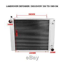 Land Rover Discovery / Defender / Range Roveii 200tdi Radiateur En Aluminium 89-98