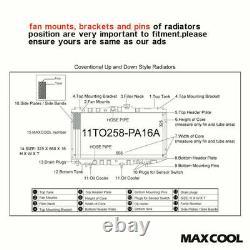 Le Radiateur En Aluminium Complet À Débit Élevé S'adapte À Honda CIVIC Ep3 Type-r 2.0 K20 2000-2005