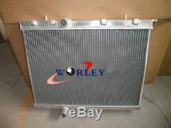 Nouveau Radiateur En Alliage D'aluminium Pour Peugeot 206 1999 99 00 01 -on 02 03 04 05 06