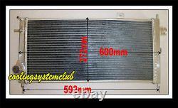 Pour 42mm Core Alloy Aluminium Radiator Opel Vauxhall Nova Gte Gsi 2.0 16v Turbo