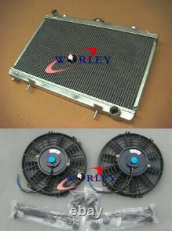Pour Nissan Silvia S14 S15 200sx Sr20det 1994-2002 Mt Radiateur En Aluminium + Ventilateurs