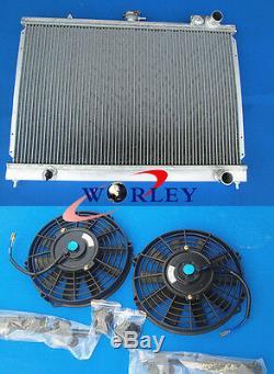 Pour Radiateur En Aluminium Allié Nissan Pintara Skyline R31 + 2 Ventilateurs 12v 10 Pouces