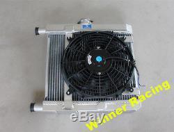Pour Radiateur En Aluminium Lancia Fulvia 1.3 1.3s V4 + Ventilateur 12 '' Et Kit De Montage