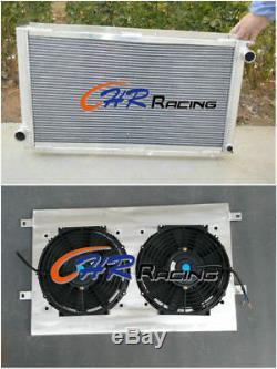 Pour Subaru Impreza Wrx Sti Gc8 1992-2000 Mt Radiateur En Aluminium + Suaire + Ventilateurs