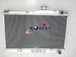 Pour Toyota Corolla Ae86 1.6l I4 1983-1987 83 84 85 86 Mt Radiateur En Aluminium + Fans