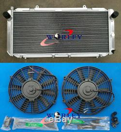 Pour Toyota Mr2 Sw20 Mr2 2.0 Rev1 Rev2 Rev3 Turbo 90-99 Mt Radiateur En Aluminium + Fans