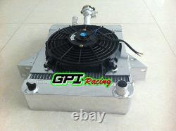 Pour Triumph Gt6 1966-1973 67 68 69 Radiateur D'alliage D'aluminium Et Étuve + 10''