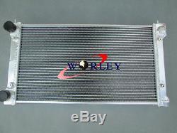 Radiateur 2 Rangées En Aluminium & 2fans Pour Vw Golf Mk1 Mk2 Gti Scirocco 1.6 1.8 8v Mt